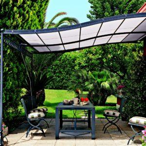 Pergolas aluminium toit fixe