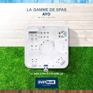 Plaquette Spas AYO Everblue