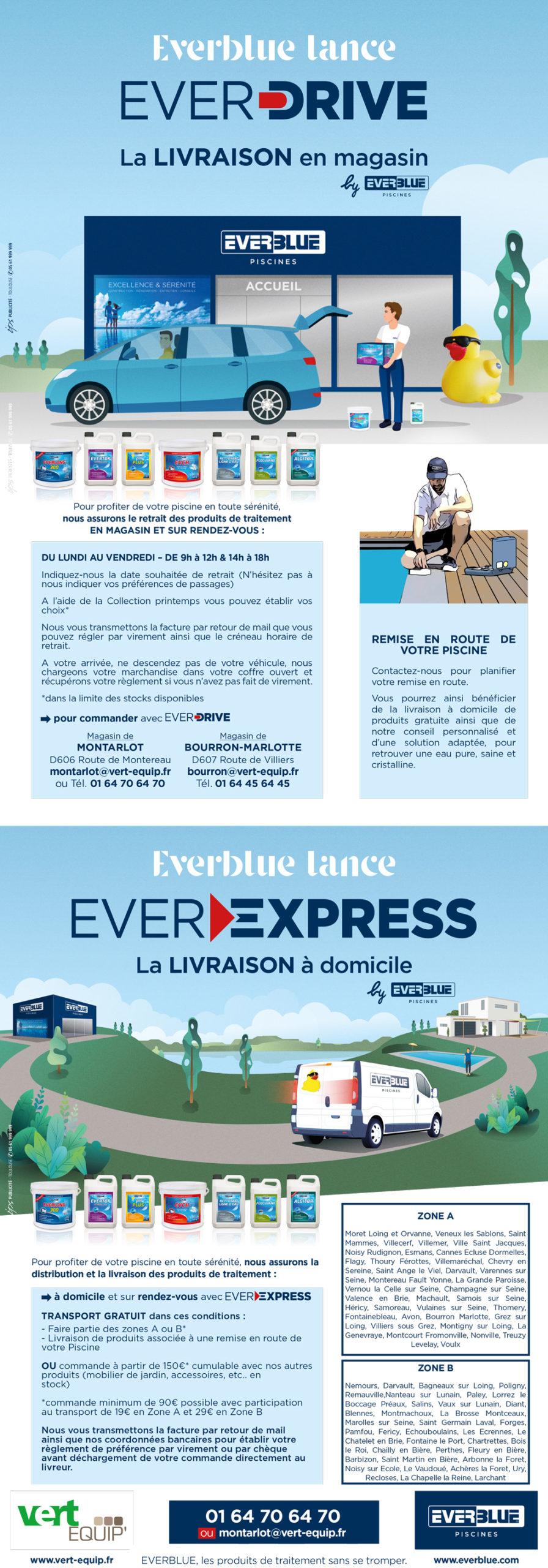 Livraison en magasin EVER Drive - Livraison à domicile EVER Express